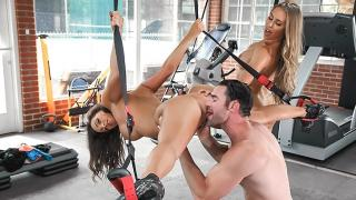 Nicole Aniston, Abigail Mac - Gym And Juice