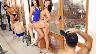 Kira Queen, Tina Kay, Vicky Love - Horny Models Pool Party