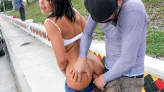 Adriana Chechik - Adriana Squirts From Anal in Public