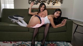 Ariella Ferrera, Emily Willis - The Babysitter's Anal Initiation