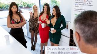 Bridgette B, Katana Kombat, Luna Star, Victoria June - Office 4-Play: Latina Edition