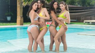Anastasia Brokelyn, Anya Krey, Scarlet Domingo, Talia Mint - Orgy in the Pool