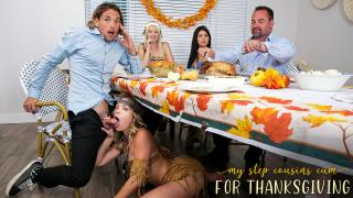 Jessie Saint, Katie Kush - My Step Cousins Cum For Thanksgiving
