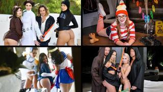 Sami Parker, Daisy Stone, Brooklyn Gray, Avery Black - A Cosplay Compilation