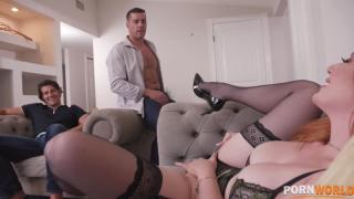 Lauren Phillips - Redhead Lauren Philips Takes Revenge of Cheating BF by Getting DPd by His Brother And Friend